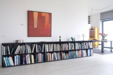ABC Quadrant lake kunstboekenkast, lak zwart