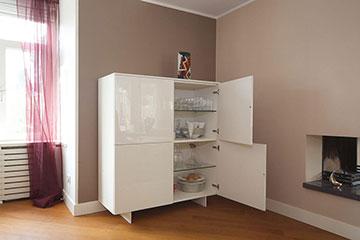 DallAgnese-Slim-servieskast-met-deuren-lak-RAL9010-360